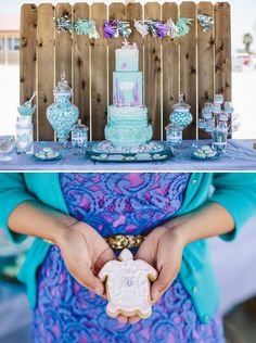 Gorgeous Ombre First Birthday {Under the Sea} Mermaid Theme Party Ideas