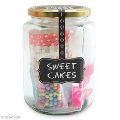Kit Déco cupcake - Sweet cakes – Manga pastelera y moldes Cupcake - Kit cocina creativa - Creavea Sweet Cakes, Mason Jars, Kit, Food, Piping Bag, Glass Canisters, Lolly Cake, Products, Mason Jar