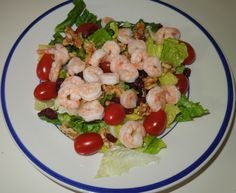 Shrimp Salad with Vegetables and Nuts