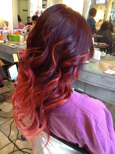 Red ombré I think this is my next objective.