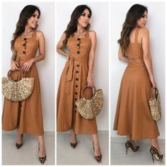 Simple Dresses, Pretty Dresses, Casual Dresses, Summer Dresses, Chic Outfits, Dress Outfits, Fashion Dresses, Striped Dress Outfit, Hijab Style Dress