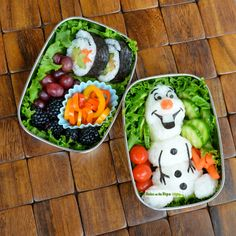 How To Make An Olaf Bento Box Cute Wouldnt A Kid Love