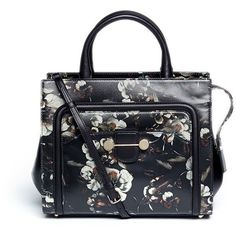 Jason Wu 'Daphne 2' floral print leather crossbody tote ($1,210) ❤ liked on Polyvore