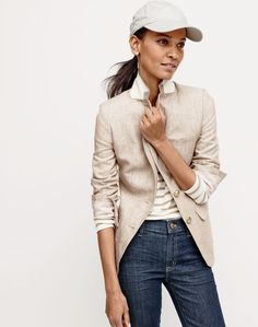 J.Crew women's chateau jacket in water-resistant cotton ...