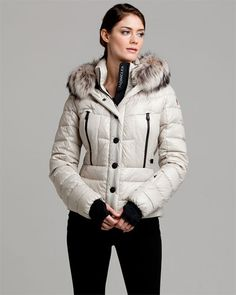 Moncler 'Bever' Ivory Down Jacket $1575 --> $1199, 90%down made in italy