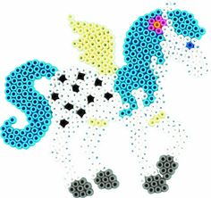hama perler bead licorne unicorn
