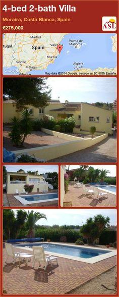 4-bed 2-bath Villa in Moraira, Costa Blanca, Spain ►€275,000 #PropertyForSaleInSpain