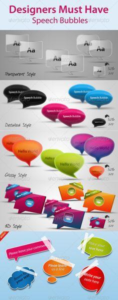 Designers Must Have Speech Bubbles - Miscellaneous Web Elements