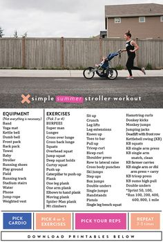 It's challenging enough to fit a workout in while the kids are in school and with everyone home now for the summer 24/7-ish it's hasn't gotten any easier. So I asked my super fit friend, trainer and health guru, Tori, to help put together a workout routine the kids can tag along for either in a stroller, on bikes …