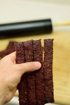 Ground beef jerky in the oven? YES! This Midwest Ground Beef Jerky recipe has the flavor and an easier chew for those who don't like tough jerky.