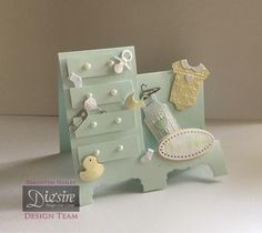 Featuring goodies from Sara Davies' Little Angel collection Card Crafts, Paper Crafts, Stepper Cards, Crafters Companion Cards, Congratulations Baby, Shaped Cards, Baby Christening, Easel Cards, New Baby Gifts