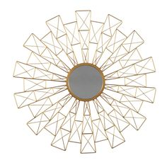 Refresh your décor with the modern design of the Signature Design by Ashley Emberlei Geometric Design Wall Mirror - x in. Sunburst Mirror, Round Wall Mirror, Wall Mounted Mirror, Mirror Set, Floor Mirror, Round Mirrors, Furniture Mall Of Kansas, Cheap Mirrors, Glass Center