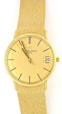 Foto 2, Eterna-Matic Herren-Armbanduhr massiv 18K Topuhr Neuw.!, U1965