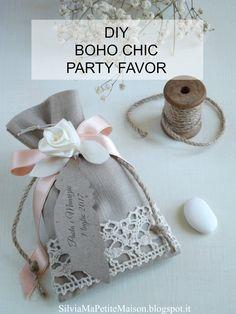 Bomboniera e Tableau de Mariage fai da te per matrimonio in stile Boho Chic