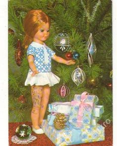 Nice Memories, Christmas Cards, Christmas Ornaments, Pretty Dolls, Post Card, Vintage Postcards, Childhood, Toys, Holiday Decor