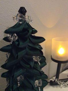 TSI, DIY, joulukuusi, pöytäkuusi, joulukoriste, nauhakuusi,