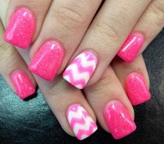 Pink with zig-zag design