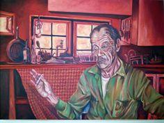 hombre en cocina roja  150x120