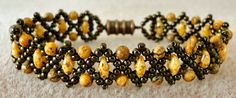 Linda's Crafty Inspirations: Bracelet of the Day: Duo Bobble Band Variation - Jasper