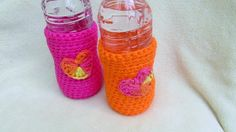 Water Bottle Cozy Crochet Beer Cozy Set of by TheFlyButterFactory, $15.00