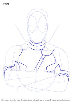 how to draw deadpool drawingtutorials101com