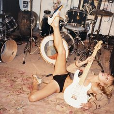 Kate Moss in Ronnie Wood's studio by Juergen Teller