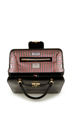 Mrs. Thom Bag In Black Calf by Thom Browne for Preorder on Moda Operandi