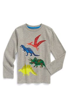 Free shipping and returns on Mini Boden 'Super Soft' Cotton T-Shirt (Toddler Boys, Little Boys & Big Boys) at Nordstrom.com. This long-sleeve T-shirt is anything but basic. From the soft-but-sturdy sueded cotton jersey to the crayon-box colored appliqués, it's sure to be a favorite for any day and everyday.