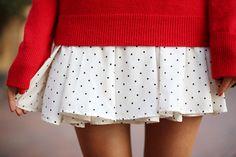 polka dots + pleats #r29summerstyle