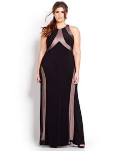 Long Open Back Prom Dress with Mesh