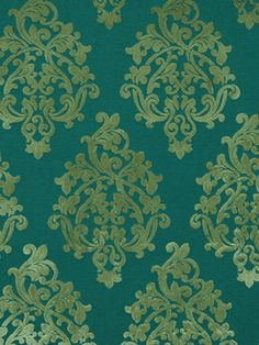 Modern Teal Velvet Fabric  Damask Upholstery by greenapplefabrics, $89.00