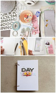 Birthday Board/Card                            Materials:   Gather some basic supplies: Letter Stickers, Masking Tape,  Vellum Envies, Striped Buttons, Tickets, Instax Pictures, Number  Stickers 1-5, Twine, Sequins, and Fabric Strips.