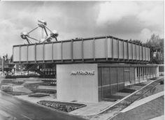 Austrian Pavilion on Expo 1958 in Brussels, Belgium, by Karl Schwanzer Pavilion, Austria, Modern, World, Brussels Belgium, German, Cards, Architecture, House