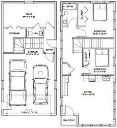 PDF house plans, garage plans, & shed plans. Backyard sheds plans Carriage House Plans, Small House Plans, House Floor Plans, Garage Apartment Plans, Garage Apartments, Br House, Garage House, Dream Garage, Shed Building Plans