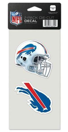 Buffalo Bills Decal 4x4 Perfect Cut Set of 2