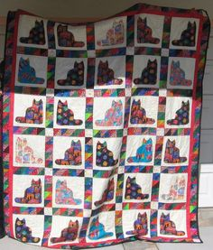 Another one I thought I would throw in there - a cat quilt I made. Cat Quilt, Custom Items, Quilts, Painting, Art, Craft Art, Comforters, Quilt Sets, Painting Art
