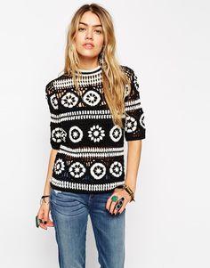 Свитер крючком мотивами от ASOS #crochet_sweater   #crochet_motives #ASOS