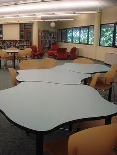 Tables, Teen Zone, Seating area Ocean County, NJ | by informationgoddess29 Interlocking tables Maker Space, The Expanse, Conference Room, Tables, Teen, Furniture, Ideas, Home Decor, Homemade Home Decor