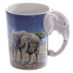 Coffee Cup Ceramic Fun Safari Printed Animal Mug by getgiftideas