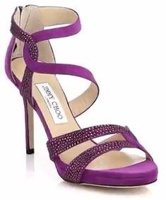 Jimmy Choo Tomar Sandals in Dark purple seen on Taylor Swift