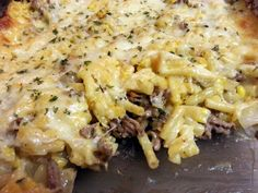 """""""This was really good and easy. I made macaroni and cheese and then added the hamburger onion mixture as I didn't have any egg noodles. Turned out great. Grilled Chicken Recipes, Beef Recipes, Real Food Recipes, Great Recipes, Cooking Recipes, Favorite Recipes, Healthy Recipes, Yummy Recipes, Macaroni Recipes"""
