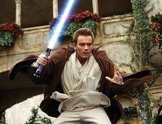 Ewan Mcgregor as Obi-Wan Kenobi. His face is just so funny!