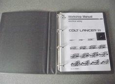 Mitsubishi Colt Lancer Electrical Wiring Manual 1989 PHME8801