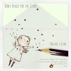 You are a Star - Doodle by Majeak Ann