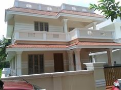 Modern Style New house for sale Chottanikkara cent Land 1750 sqft) House Front Wall Design, Single Floor House Design, House Roof Design, House Outside Design, Modern Small House Design, Bungalow House Design, Cool House Designs, House Construction Plan, House Design Pictures