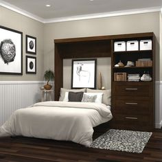 "Exceptional ""murphy bed ideas ikea queen size"" information is offered on our internet site. Read more and you wont be sorry you did. Small Master Bedroom, Master Bedroom Makeover, Bedroom Sets, Bedding Sets, Single Bedroom, Murphy Bed Desk, Murphy Bed Plans, Cama Murphy Ikea, Murphy-bett Ikea"