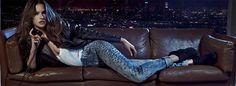 Alessandra Ambrosio  Studded Colcci Jeans