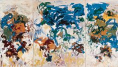Joan Mitchell, Bracket, 1989. Oil on canvas  (260.35 x 461.35 cm).           The Doris and Donald Fisher Collection at the San Francisco Museum of Modern Art - See more at: http://joanmitchellfoundation.org/work/artwork/cat/paintings/late-career-1980-1992/bracket2#sthash.4SlSe9RZ.dpuf