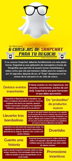 S consejos sobre Snapchat para tu empresa #infografia #infographic #socialmedia   TICs y Formación
