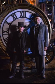 Still of Michael J. Fox and Christopher Lloyd in Back to the Future Part III (1990) http://www.movpins.com/dHQwMDk5MDg4/back-to-the-future-part-iii-(1990)/still-6339584